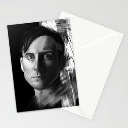 Stevie Aiello | Digital Portrait black & white Stationery Cards