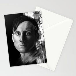 Stevie Aiello   Digital Portrait black & white Stationery Cards