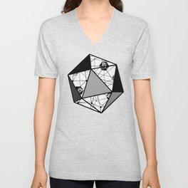 Black and White Geometric Shape Constellation Dream Unisex V-Neck