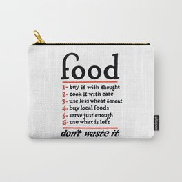 Don't Waste Food WWI World War I Poster Carry-All Pouch