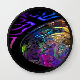 Steely-Eyed Wall Clock