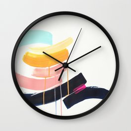 Stay- abstract painting by Jen Sievers Wall Clock