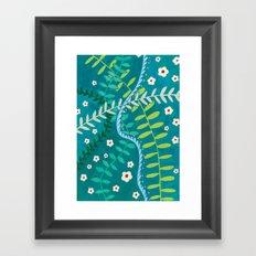 Tangled Vines Framed Art Print