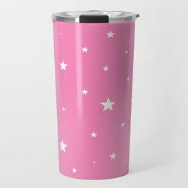 Scattered Stars on Pink Travel Mug