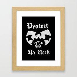 Protect Ya Neck Framed Art Print