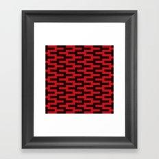 Black & Red Zigzag Framed Art Print