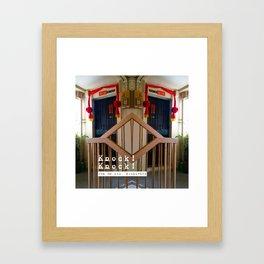 KNOCK KNOCK (ANG MO KIO) Framed Art Print