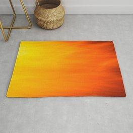 Mark Rothko Inspired Fire Painting Rug