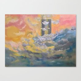 Twin Towers rebuilt in Heaven Canvas Print