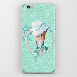 Blue Sugar Icecream Cone iPhone Skin