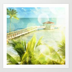 Summer Morning at the Beach - Key West Art Print