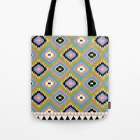 kilim Tote Bags featuring Modern Kilim by Alisse Courter