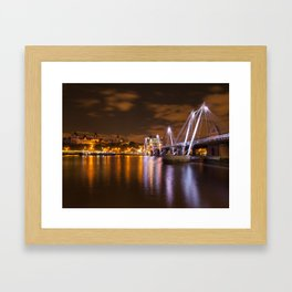 The hungerford Bridge At Dusk Framed Art Print