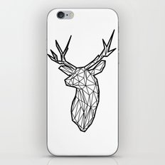 Black Line Faceted Stag Trophy Head iPhone & iPod Skin