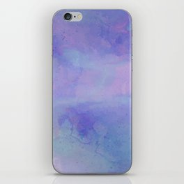 Watercolour Galaxy - Purple Speckled Sky iPhone Skin