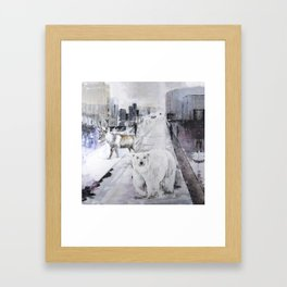 Streets of Lapland Framed Art Print