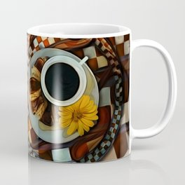 Midnight Never Ends, a Diner Shop Fractal Tribute to Coffee Conversations Coffee Mug
