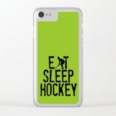 Eat Sleep Hockey Clear iPhone Case