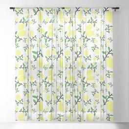 When Life Gives You - Lemon Print Sheer Curtain