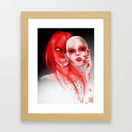 Your True Face Framed Art Print