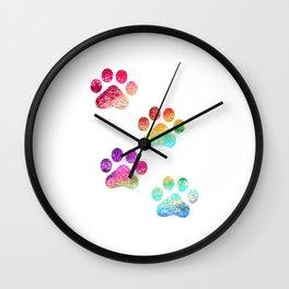Paws print Wall Clock