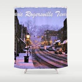 Historic Rogersville Tennessee In Winter Shower Curtain
