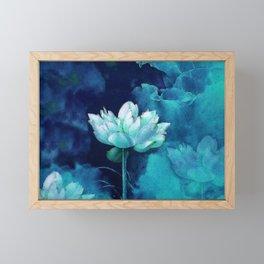 Moonlight Water Lily Framed Mini Art Print