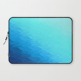 Turquoise Blue Texture Ombre Laptop Sleeve