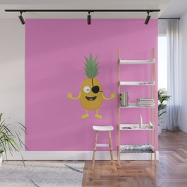 Pineapple Pirate with eye-patch T-Shirt D9ozq Wall Mural