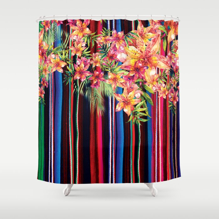 Florid Mexican Shower Curtain