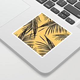 Black Palm Leaves Dream #6 #tropical #decor #art #society6 Sticker