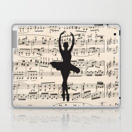ballerina art, music Notes , girls nursery art, ballerina décor , girls nursery art , Laptop & iPad Skin