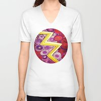 lightning V-neck T-shirts featuring Lightning by DuckyB