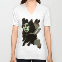 witchcraft V-neck T-shirts featuring Wise in Witchcraft by Ben Geiger