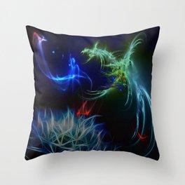 Chasing The Dragon Throw Pillow