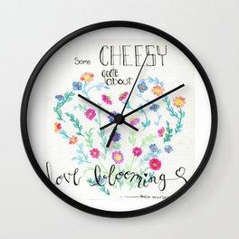 Love Blooming Wall Clock