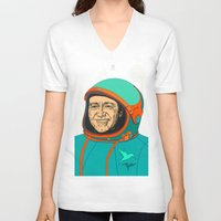kevin russ V-neck T-shirts featuring Kevin Spacey by IvaDim