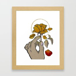 If You Need Anyone (w/ red petal) Framed Art Print