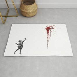 Banksy Valentines Day Mural Reproduction, Artwork for Wall Art, Posters, Prints, Tshirts, Men ,Women Rug