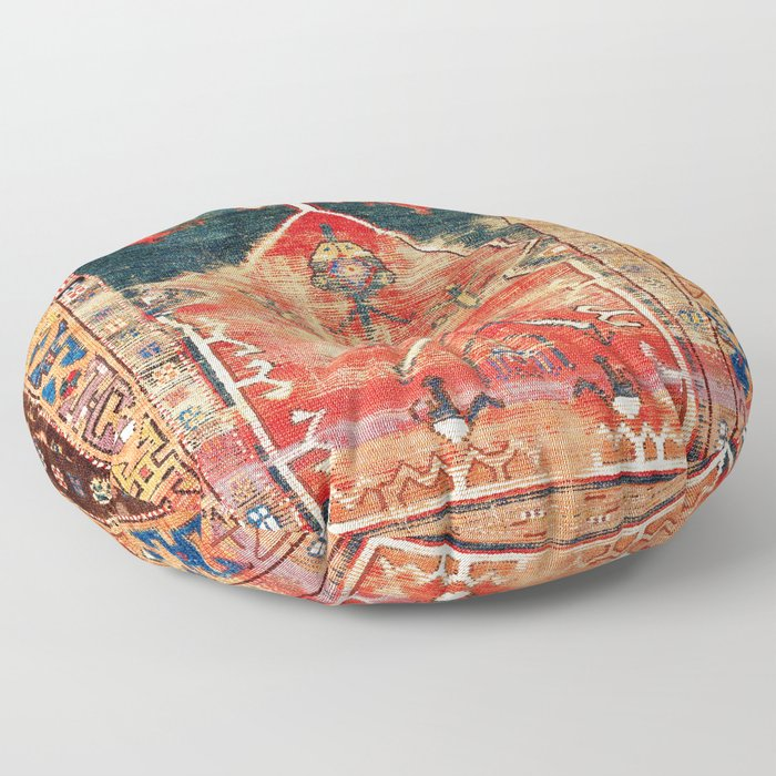 Konya Central Anatolian Niche Rug Print Floor Pillow