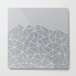 Ab Lines Up Grey Metal Print
