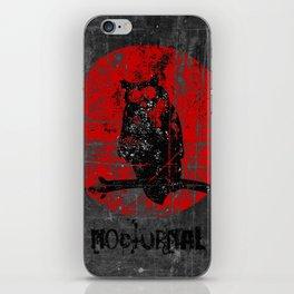 Nocturnal - Grunge Owl iPhone Skin