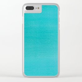 Hand painted DW-M bluemarine color Clear iPhone Case