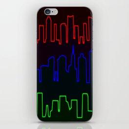 Neon Skyline iPhone Skin