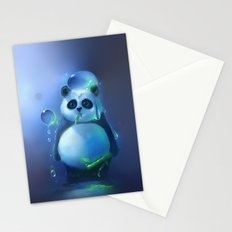 aqua panda Stationery Cards