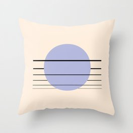 Private Moon - Blue Throw Pillow