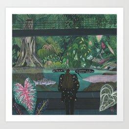 An emotional exhibitionist Art Print
