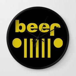jeep beer Wall Clock