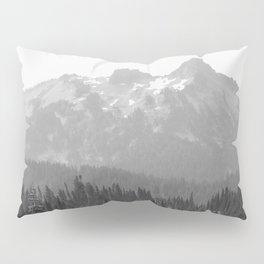 Go Beyond - Black and White Wilderness Nature Photography Pillow Sham