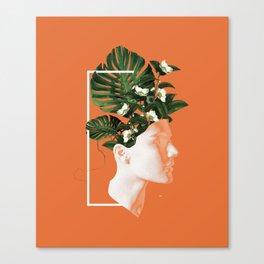 minima Lady Flowers Canvas Print